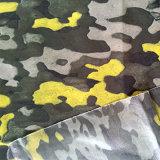 Водоустойчивая тяжелая полная ткань PU Printied для куртки