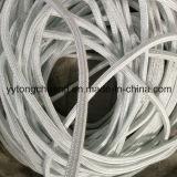Tipo de alta temperatura corda quadrada trançada da isolação da embalagem da fibra de vidro