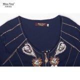 Miss You Ailinna 304503 Mujeres de mediana edad vestido tejido con cremallera