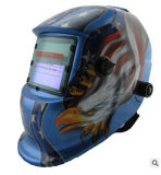 Blaue Farben-Selbstverdunkelnschweißens-Schablone mit Adler