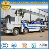 HOWO Road Rescue Truck 8 * 4 Heavy Duty Wreck Towing Truck