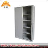 Cabina de fichero de la puerta de Tambour del metal de la oficina con 4 estantes