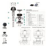 Санитарный мембранный клапан Stainlss стальной пневматический (RG)