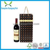 Bolsa de papel impresa insignia de encargo del vino para el regalo