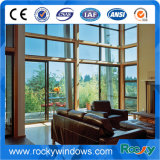 Color de madera rocoso Windows de aluminio y puertas