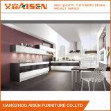 Module de cuisine noir et blanc de laque de meubles de cuisine