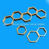 Tubo de cobre amarillo Shaped hexagonal difícilmente drenado C27200 para los accesorios decorativos
