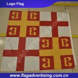 Bandierina di marchio dell'azienda di pubblicità esterna, bandierina stampata di promozione del tessuto