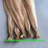 高品質のバージンのインドのRemyのコールドフュージョンの平らな先端の毛の拡張