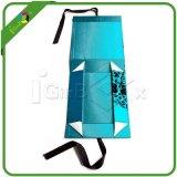 Caixa de papel Foldable feita sob encomenda com a fita da seda do fechamento do ímã
