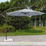[3م] مظلة خارجيّة مع شريط في خضراء وأبيض ([وه-د894])