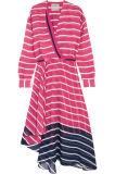 2017 новых женщин Arrvial Striped розовая Silk шифоновая оптовая продажа платья