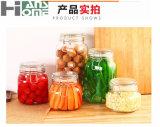 Frasco de Jarglass do armazenamento do alimento com grampo