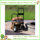 Carro da lenha com as rodas duráveis para transportar facilmente a madeira