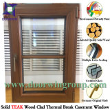 Ventana con Hings resistente para su seguridad, ventana de madera de aluminio de cristal de la capa Inferior-e para los clientes de USA/Europe