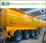 De 4 essieux de réservoir de carburant pétrolier chimique de remorque semi