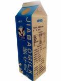 carton frais du lait 1L avec les capsules/carton triangulaire