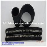 Tuyau en caoutchouc hydraulique industriel tressé de fil d'acier inoxydable