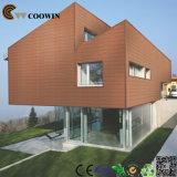 Coowinの木プラスチック合成WPC外壁のパネル