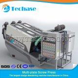 Máquina automática del deshidratador del lodo de la prensa de filtro de tornillo