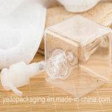 250ml de vierkante Kosmetische Verpakking van de Fles van de Nevel van de Pomp van de Fles van de Fles Plastic