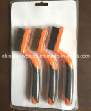 Ottone/Steel/PP Wire Polishing Set Brush con Plastic Handle (YY-514)