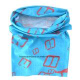 Подгонянный OEM напечатанный логосом шарф пробки шеи голубых выдвиженческих спортов волшебный