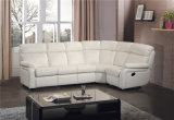 Weißes Farben-Leder-Ecken-Sofa-Bett
