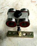 El mueble empareda componentes, el rodillo, la rueda y la pista