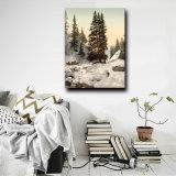 Natuurlijk Landschap dat het Chinese Olieverfschilderij van het Landschap van de Aard van de Winter op Canvas schildert