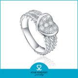 Reizend Sterlingsilber-Ring der Vitalität-925 mit Customed Firmenzeichen (R-0570)