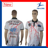 T-shirt de sublimation de chemise de polo de Healong plein