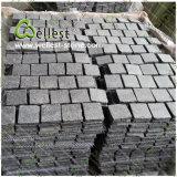 Pedra de pavimentação preta engrenada natural do basalto/granito para o jardim/entrada de automóveis da paisagem