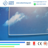 Glace solaire Tempered modelée ultra claire inférieure enduite de fer de l'AR