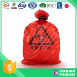 Bolso plástico de Biohazard para la basura médica del hospital