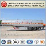aanhangwagen van de Vrachtwagen van de Tank van het Roestvrij staal van het Vervoer van de Olie van 47cbm de Vloeibare Semi
