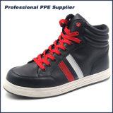 Zapatos de seguridad compuestos del deporte de la punta del cuero genuino