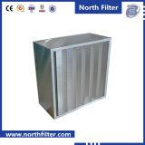 De v-Bank van het fiberglas de Filter van de Zak