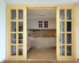 Portello scorrevole di vetro di legno interno