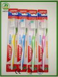 Toothbrush adulto della maniglia flessibile calda di vendite con il Linguetta-Pulitore con la protezione libera
