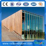 La apertura de aluminio del toldo aislada artesona el revestimiento de madera de pared del precio