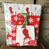 Conjunto de tres tallas del bolso del regalo del papel de imprenta del diseño de la Navidad