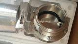 Válvula de borboleta rosqueada do produto comestível de aço inoxidável (JN-VV1006)