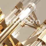 Grand lustre de luxe moderne de cristal de la couleur G9 DEL K9 d'or
