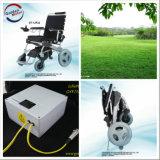 Cadeira de rodas de dobramento Et-12f22 da potência do E-Trono dourado do motor