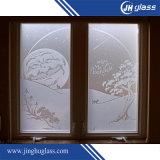 vetro piano di gelo del Sandblast di 5mm