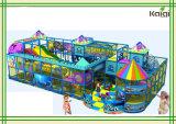 販売または運動場の/Kidsの屋内柔らかい演劇の屋内運動場のためのKaiqiキャンデーの主題の屋内運動場