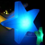 Iluminación linda de la estrella de la decoración de la consumición LED de las energías bajas del alto brillo