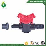 Válvula plástica de la irrigación de Driptape mini para la línea del goteo