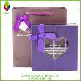 Diseño especial púrpura Embalaje Chololate caja con el Bowknot
